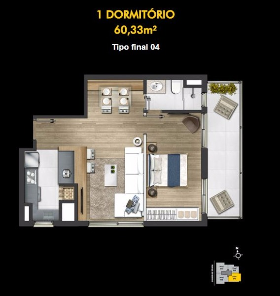 Montreal - Apto 1 Dorm, Petrópolis, Porto Alegre (99541) - Foto 9