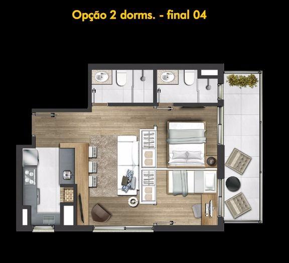 Montreal - Apto 1 Dorm, Petrópolis, Porto Alegre (99541) - Foto 11