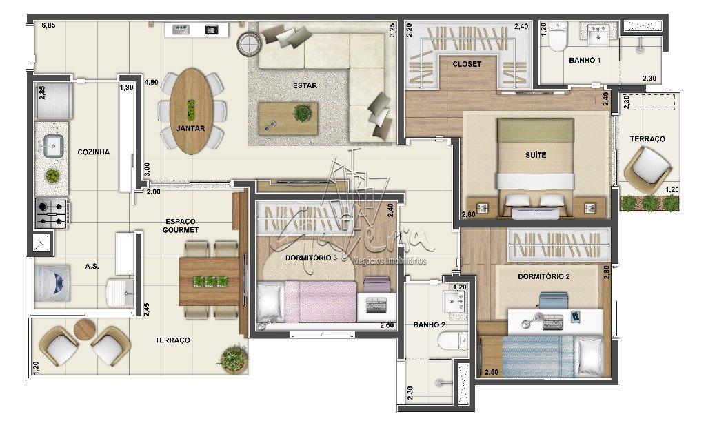 Apartamento à Venda - Santa Teresinha