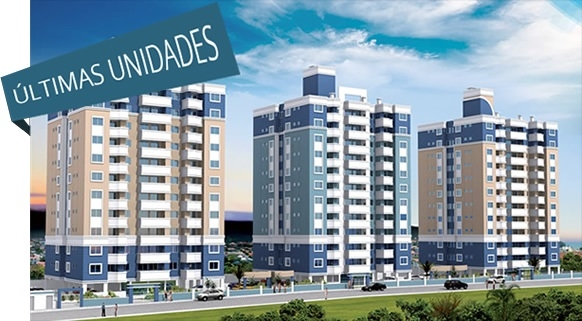 Apartamentos de 2 dormitórios à venda em Barreiros, Sao Jose - SC