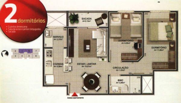 Apartamentos em Barreiros, Sao Jose - SC