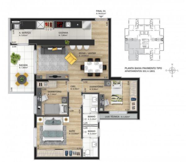 Apartamento em Caxias Do Sul | Cosmopolitan