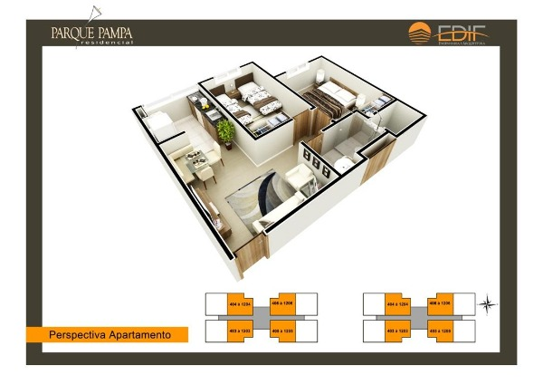 Apartamento em Caxias Do Sul | Residencial Parque Pampa