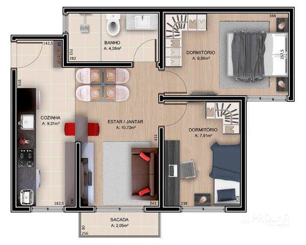 Apartamento em Bento Gonçalves | Apartamentos No Reserva do Vale Residencial