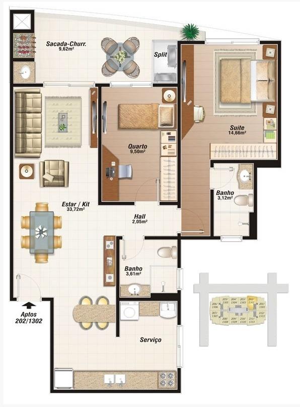 Apartamentos de 2 dormitórios à venda em Campinas, São José - SC