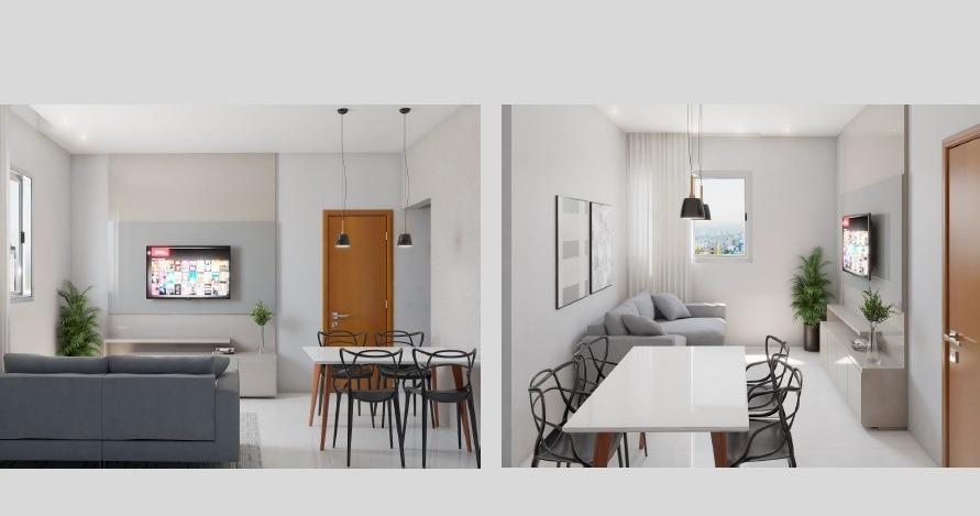 Apartamento de 61,36m²,  à venda
