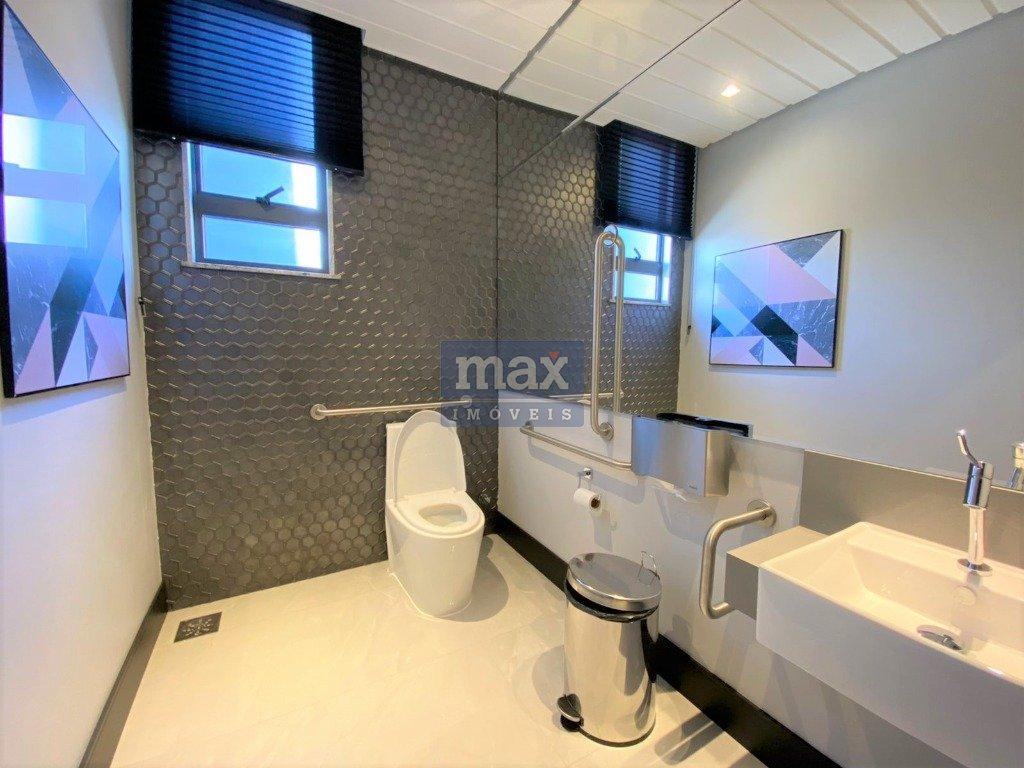 Banheiros das áreas de lazer