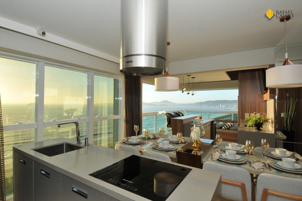 Cozinha e Sala de Jantar com Sacada Integrada - Fotos do Apto Decorado Res. Key West