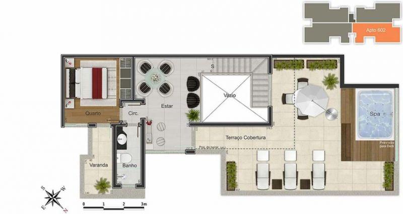 Cobertura Duplex de 186,00m²,  à venda