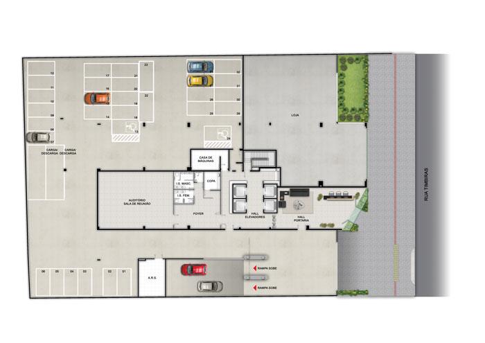 Conjunto de Salas de 41,73m²,  à venda