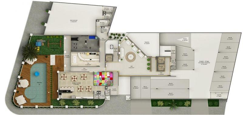 Apartamento de 80,69m²,  à venda
