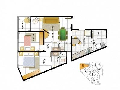 Apartamento de 71,81m²,  à venda