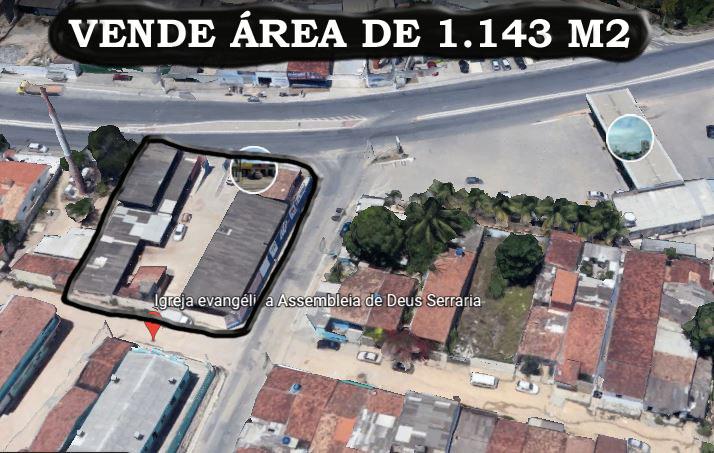 Terreno / Área de 1.143,00m²,  à venda