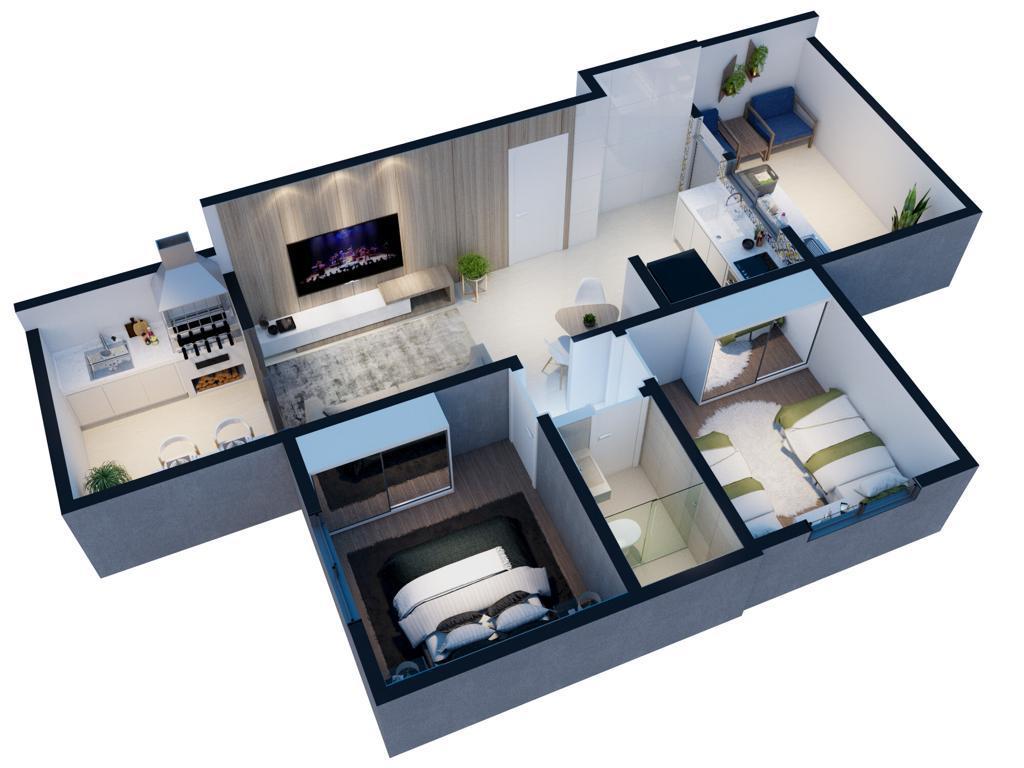 Área privativa de 60,00m²,  à venda