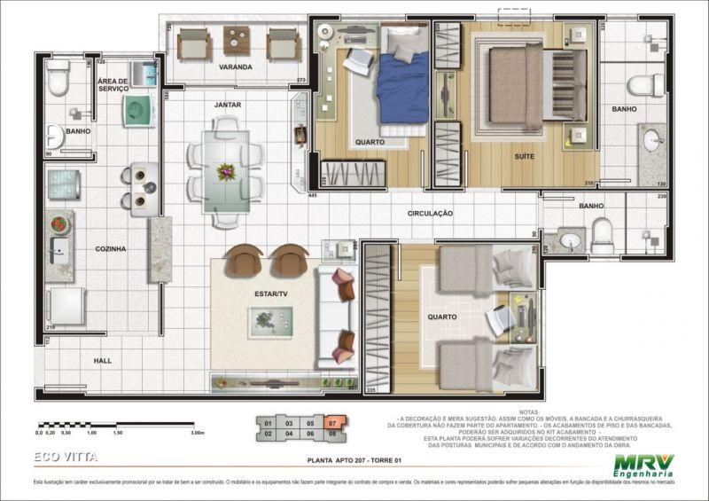 Apartamento de 82,70m²,  à venda