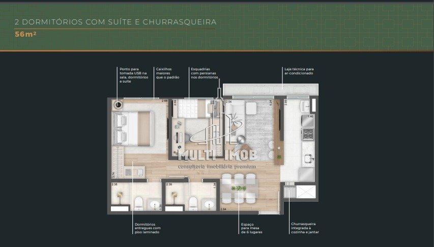 Apartamento  2 Dormitórios  1 Suíte  1 Vaga de Garagem Venda Bairro São João em Porto Alegre RS