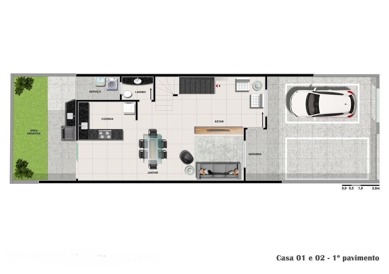 Casa Duplex de 140,00m²,  à venda