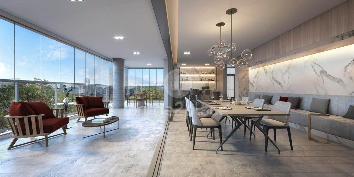 Perspectiva ilustrada do apartamento