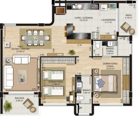 Apartamento em Caxias Do Sul | Ed. Franz Liszt
