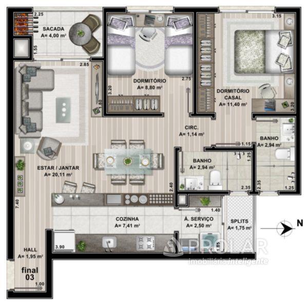 Apartamento em Caxias Do Sul | Forêt Residence