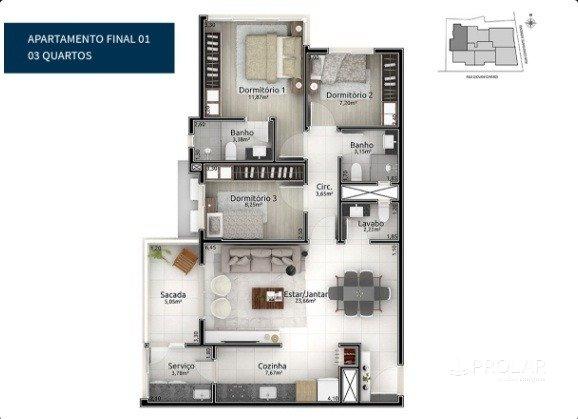 Apartamento em Bento Goncalves | Edifício Continente