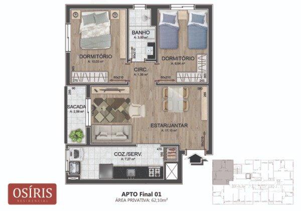 Apartamento em Caxias Do Sul | Osíris Residencial