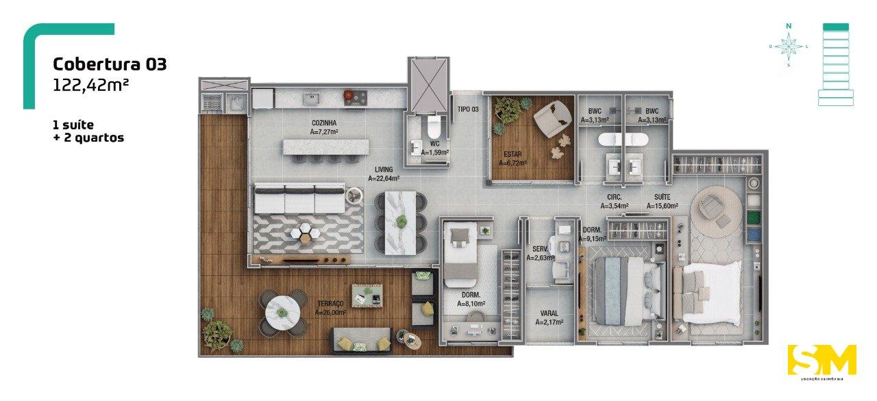 Apartamento Joinville Costa e Silva 2161527