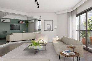 Apartamento em Moema, São Paulo com 4 domitórios e 3 suítes