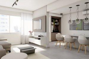 Apartamento em Moema, São Paulo com 2 domitórios e 1 suíte