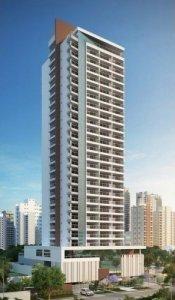 Apartamento em Brooklin, São Paulo com 1 domitórios e  suíte